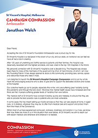 Letter from Dr Jonathon Welch AM