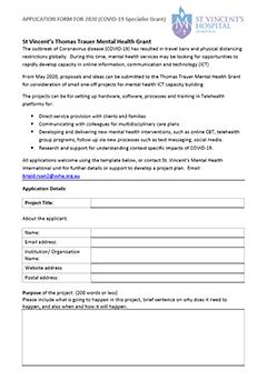 ICT Capacity Building Grant Application