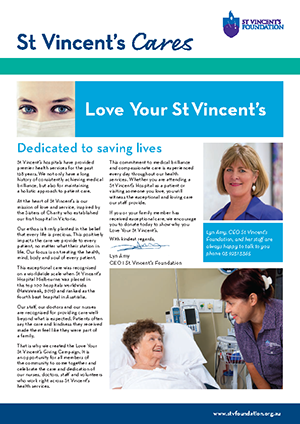 St Vincent's Cares Newsletter